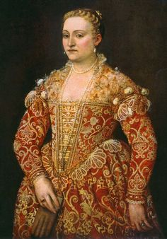 Paolo Veronese - Portrait of a Woman Holding Gloves - National Gallery of Ireland, Dublino