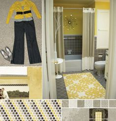 greyandyellowbathroomideas color watch inspiration by decorator lori