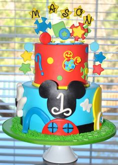 Mickey Mouse Cake, Hope's Sweet Cakes