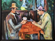 """Paul Cezanne's card players, painted by Dawn Colpitts, 16""""x20"""" oil painting"""