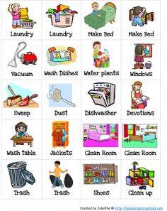 Chore Charts: Chore Cards