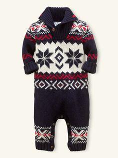 LOVE LOVE LOVE THIS Shawl-Collar Coverall - One-Pieces  Layette Boy (Newborn–9M) - RalphLauren.com