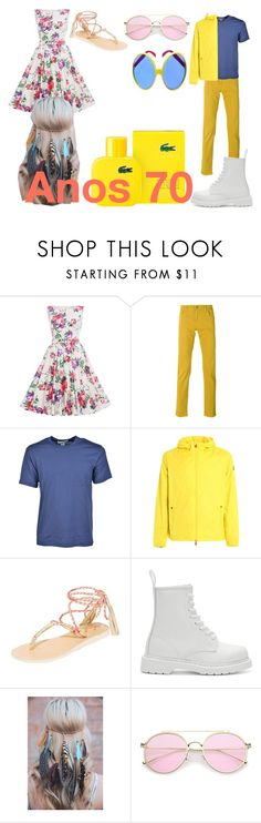 """""""Década 70"""" by julia-clv ❤ liked on Polyvore featuring Dolce&Gabbana, Comme des Garçons, Save the Duck, Cocobelle, Dr. Martens and Lacoste"""