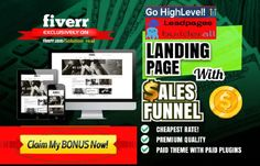 I will build stunning landing page, funnels on leadpages, gohighlevel, builderall – FiverrBox Mobile Responsive, My Portfolio, Internet Marketing, Promotion, Online Marketing