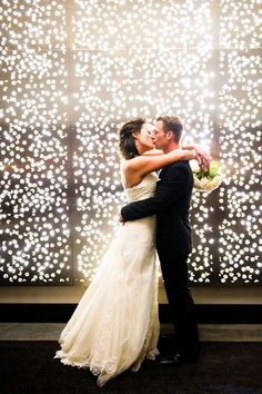 stunning wedding photo ideas before twinkle lights backdrops