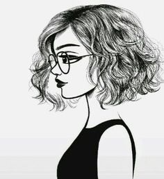 Image result for woman from.side drawing short hair