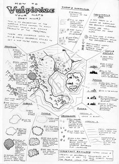 Observations of the Fox: Map Drawing Tutorial 9: Old School Wilderness