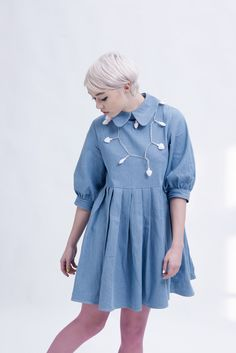 Big Collar Dress Denim