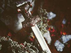 Viking Bone Necklace  Mjölnir