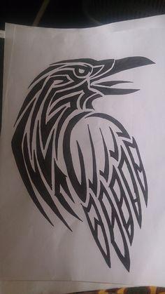 Raven Deer Tattoo, Fox Tattoos, Body Art Tattoos, Tree Tattoos, Tribal Tattoos, Tattoo Ink, Sleeve Tattoos, Hand Tattoos, Crow Art