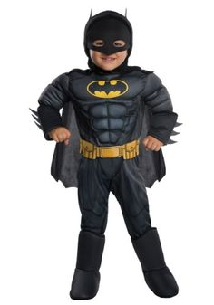 Dress your little superhero in this Deluxe Batman Toddler Costume. This costume features a more modern Batman look with padded muscles.