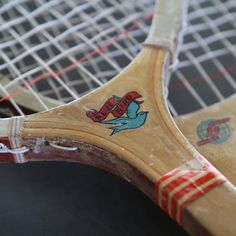Rare Blue Bird Pair of Tennis Racquets by GraceWillVintage on Etsy, $45.00
