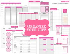 organizing printables-  set of 20 organizing printables for your home binder    http://the-printable-party-shop.myshopify.com/collections/frontpage/products/organize-your-life-20-home-binder-organizing-printables  #organize  #printable