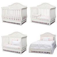 Disney Princess Magical Dreams 4-in-1 Convertible Crib - White Ambiance