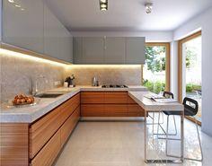 Wygodny 3 - wizualizacja 6 - Nowoczesne projekty domów z garażem dwustanowiskowym i dachem dwuspadowym