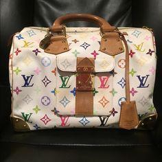 Louis Vuitton Multicolore speedy .100% authentic❤️ Used Louis Vuitton speedy 30 . Great condition. 100 % authentic Louis Vuitton . Comes with the original Louis Vuitton box and a dust bag. Louis Vuitton Bags