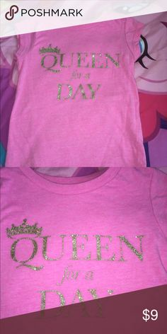 Pink t Never been worn pink T-shirt with gold glittery lettering queen for the day from Carter size 3t Carter's Shirts & Tops Tees - Short Sleeve