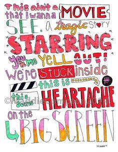 Heartache on the Big Screen - 5 Seconds Of Summer - Lyrics Art