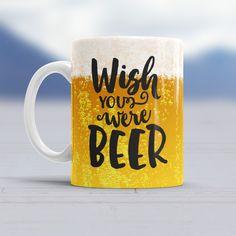 Für diejenigen, die den Tag lieber mit einem Hopfengetränk beginnen würden: die erfrischende Wish You Were Beer Tasse als ideales Geschenk für BiertrinkerInnen.