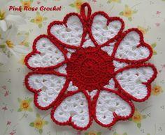 \ PINK ROSE CROCHET /: Pega Panelas Coração aos Pares