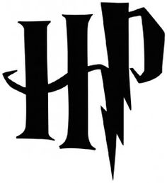 The lightning bolt is one recognizable symbol for Harry Potter, because of the lighting bolt shaped scar on his forehead. Harry Potter Clip Art, Harry Potter Letter Font, Harry Potter Invitation, Harry Potter Stencils, Harry Potter Thema, Cumpleaños Harry Potter, Harry Potter Symbols, Harry Potter Quilt, Harry Potter Drawings