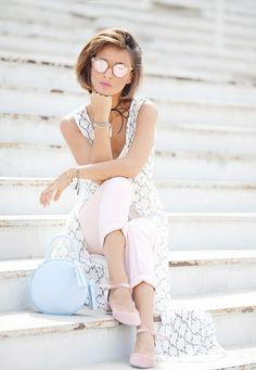 pastel colors outfit, summer outfit ideas, summer street styles,