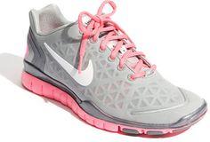 Pink & Grey Nike 'Free TR Fit 2' Training Shoe