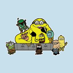 Banana the Hut Two of my favorite things together Minions and Star Wars!