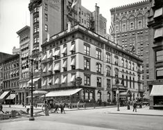 Cafe Martin, Fifth Avenue and 26th Street. New York circa 1908.