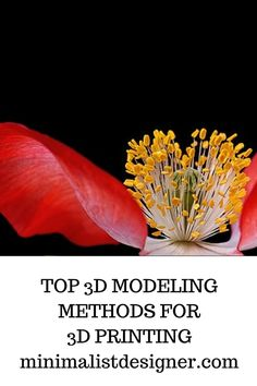 Top modeling methods for printing Minimalist Design, Inventions, 3d Printing, Poster Prints, 3d Modeling, Advertising, Architecture, Videos, Top