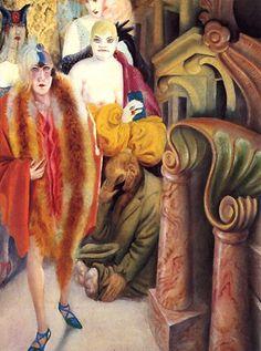 Big City, 1928 by Otto Dix, (German panel of Triptych 'Big City'. Art And Illustration, Illustrations, Harlem Renaissance, Art Dégénéré, Kathe Kollwitz, George Grosz, Degenerate Art, Max Beckmann, First Class