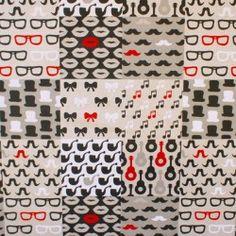 Tissu imitation lin imprimé motifs \