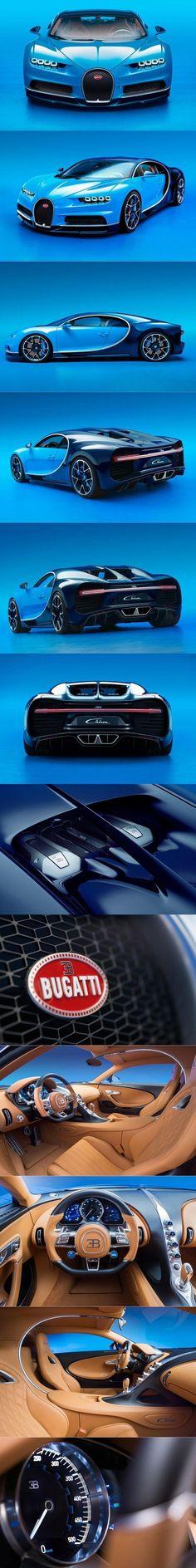 2016 Bugatti Chiron / France / blue / 1500 hp #BugattiChiron