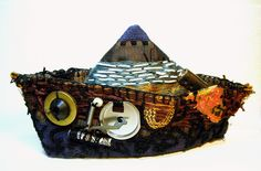 Mississippi Tow: textile art boat