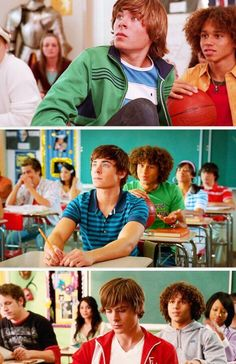 High school musical 1 2 & 3. They even sit in the same seats!