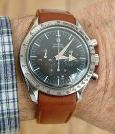 Speedmaster leather watch strap