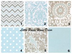 Baby Blue Gray Pillow Throw Pillows 18x18 by LittlePeepsHomeDecor, $34.00