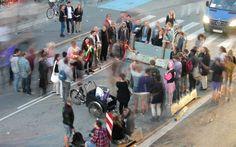 Playing J.S. Joust in the streets of Copenhagen (Photo by Jakob Moesgaard)