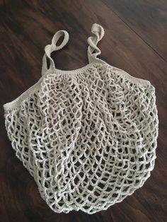 bolsa ganchillo Punto Red Crochet, Crochet Market Bag, Hippie Boho, Diy And Crafts, Knitting, Sweaters, Bags, Shopping, Crochet Pouch
