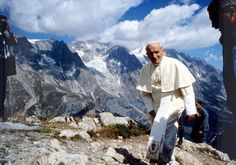 JPII on the trails-in the back view of Tatra Mountains, Zakopane, Poland