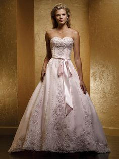 pink+wedding+gowns | Styles of Pink Wedding Dresses | WedWebTalks