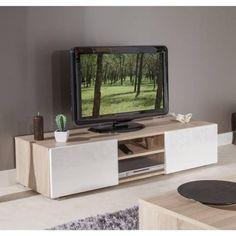 Meuble TV Scandinave COSMOS Chªne et blanc