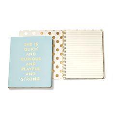 "Kate Spade New York Quick & Curious Spiral Notebook, <span class=""price"">$14.00</span> #birchbox"