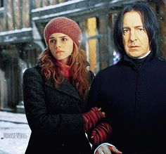 I couldn't come with a better name for this, because I was just playing with the photoshop. Severus Snape Always, Snape And Hermione, Snape And Lily, Severus Rogue, Alan Rickman, Harry Potter Fandom, Half Blood, Emma Watson, Otp