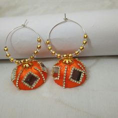 Silk thread earrings .. Orders undertaken.. Colours can be customized.. To order whatsapp 8790245879