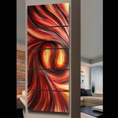 Modern Abstract Metal Wall Art Sculpture Paintings Wall Decor Hangings by Wasun | eBay