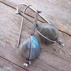 Labradorite & Sterling Silver Earrings | Flickr - Photo Sharing!