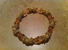 Amber beaded Murano Glass Bracelet