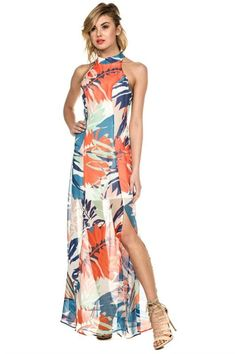df412318 Better Than Most Tropical Maxi Dress – The Laguna Room Tropical Outfit,  Tropical Fashion,