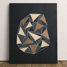 Geode 2, Original 8 x 10 Art, Illustration & Veneer on matte black plywood by Kristin Casaletto - Wood & Paper Co., $55.00